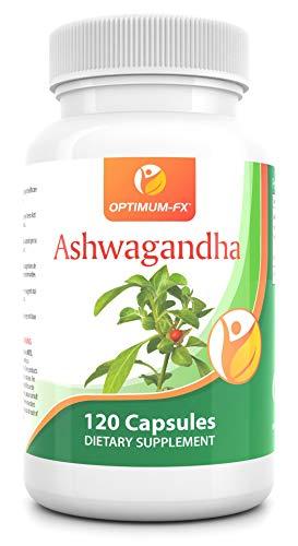 Estratto di Radice di Ashwagandha - Integratore Adattogeno Ayurvedico Naturale - Supporta il Benessere - Stress da Combattimento - 1000 mg di Polvere per Porzione (Fornitura per 60 giorni) 120 Capsule