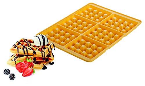Tescoma 629342 Delicia Stampo per 6 Waffle, Silicone, Giallo
