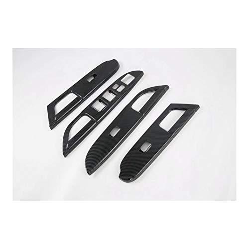 loulou Ajuste for Mitsubishi ASX 2020 Interruptor de la Mano Izquierda Drive 4PCS ABS Ventana de Coche Puerta Interior Ascensor Botones de Cristal Cubierta Recorta Car Styling