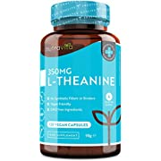 L-Theanine 350mg - GABA Alternative - High Strength Premium L Theanine - 120 Vegan Capsules - Caffeine Free - Non GMO and Allergen Free Supplements - Made in The UK by Nutravita