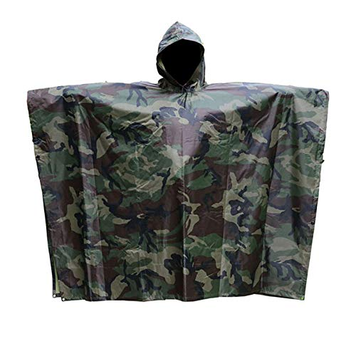 ZWYM Outdoor Supplies Camouflage Raincoat Trade Waterproof Sports Goods Cape Poncho Camouflage Raincoat Adult-B_One_Size_ChinaAbrigos Impermeables
