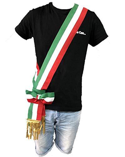 BrolloGroup Fascia Da Sindaco Tricolore A Fiocco Scorrevole Made In Italy PS 04631