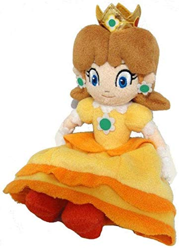 NC56 Lovely Girls Plush Toy 20Cm Super Mario Princess Daisy Plush Doll Toy Kids Birthday Party Gift Toy Juguete de Dibujos Animados