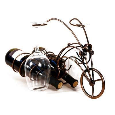 CAIJINJIN estante del vino Hierro de la motocicleta de vino de vidrio colgando estante del vino de gabinete en rack vino creativo artesanías adornos de decoración europeas Almacenamiento