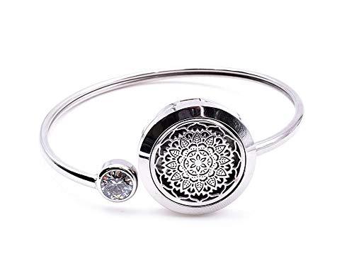 Origin Aromatherapie-Armband mit Mandala-Diffusor, mit Parfüm-Medaillon – Lieferung mit einem Pad, um ätherische Öle Ihrer Wahl hinzuzufügen.