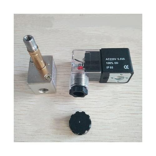 YIJIAN-UMBRELLA 1 PAPAIR 1 / 8InCH Válvula solenoide de compresor de Aire Libre de Aceite de Aceite 220V 380V Válvula solenoide de Alivio de Descarga Normalmente claesada con indicador