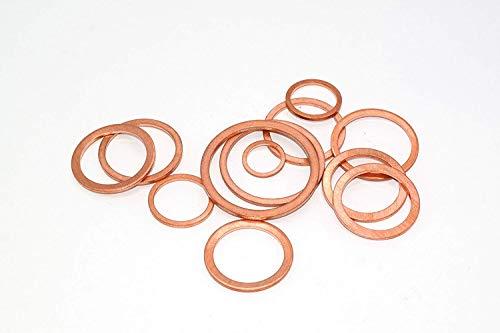 Kupferdichtung 30 x 36 x 2 DIN7603 A 10 Stück Kupfer Dichtringe Dichtungsringe aus CU Kupferringe Flachdichtung