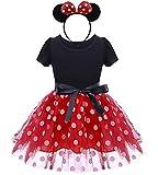 Lkxfz Baby Girl Dress Toddler Girl Polka Dots Fancy Dress Up Costume Birthday Party Tulle Dresses Red 100