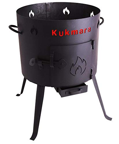 Utschak, H: 65 cm, Durchmesser: 40 cm, 12L Feldküche, Gulaschkessel Feuerkessel Kessel Outdoor