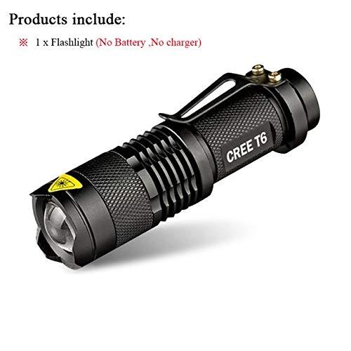 Lot A, CREE XM L2 3800 lm : Mini lampe torche CREE XM-L T6 puissante zoomable étanche LED rechargeable 18650 lanterna camping lampe flash 3000 lumens