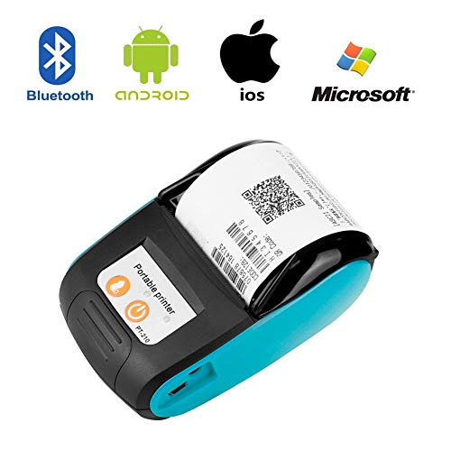 Wendry Impresora Térmica de Recibos, Impresora de Recibos Portátil Inalámbrica Bluetooth Impresora de…