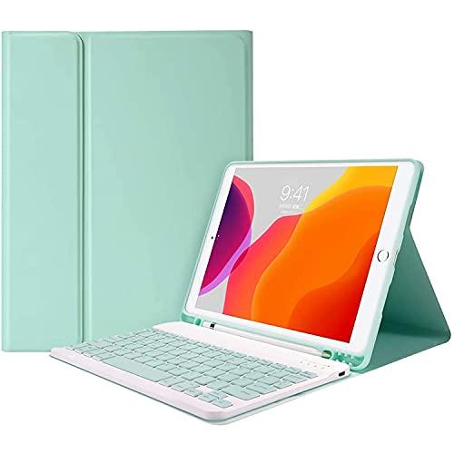 Funda para iPad Air 4 con teclado, compatible con Apple 10.9 iPad Air4 2020 iPad Pro 11 2018/2020/2021 Teclado Bluetooth inalámbrico ,funda magnética inteligente con portalápices,Azul,iPad 10.9 Pro11