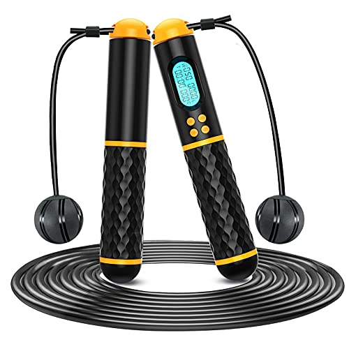 WINSHIDEN Skipping Rope with Counter Adult Women Fitness Weighted Skipping...