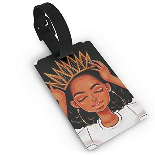 JOESUKT African American Black Girl Art Luggage Tag Travel Accessories Business Card Holder Quickly Spot Luggage Suitcase For Boy,Girl,Man,Woman Material PVC