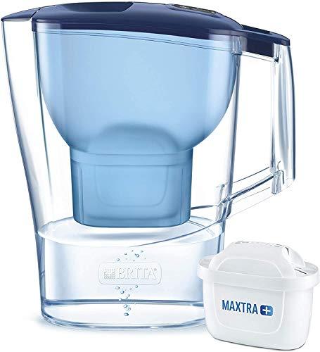 BRITA Wasserfilter Aluna weiß / robuste Kanne inkl. 1 MAXTRA+ Filterkartusche / Filter reduziert Kalk, Chlor und leitungsbedingt vorkommende Metalle wie Kupfer & Blei im Leitungswasser