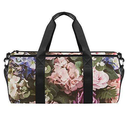 TIZORAX - Bolsa de viaje para banquetes o gimnasio, diseño de rosas