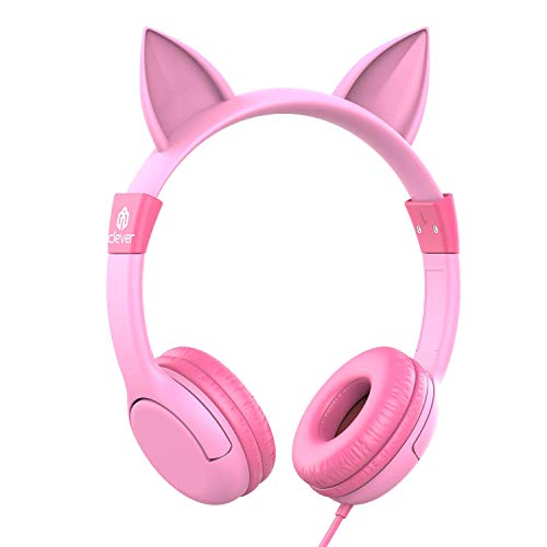 iClever Boostcare Kids Headphones Girls - Cat Ear Hello Kitty...