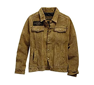 Harley-Davidson Women's Gauges Suede Leather Jacket (Tan, Xx-Large)