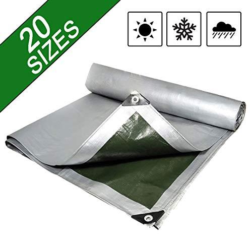 NaDrn Lona de Protección, Lona Impermeables Exterior, Cubierta Impermeable de Lona Reforzada Cubierta PVC para Carpa de Camping Camión, Resistente al Rasgado y rasgaduras,4x5m/13x16ft