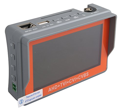 Eversecu 4 in 1 CCTV Tester Support 720P/1080P/3mp/4mp/5mp AHD, TVI, CVI & CVBS Analog Camera,...