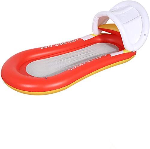 Queta Luftmatratze Pool Aufblasbarer Wasserhängematte Wasserspielzeug Sommer- Pool Spielzeug Orange 160*90cm