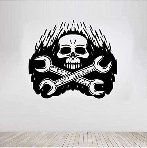 Llave De Calavera Herramienta Dura Pegatina De Pared Halloween Sala De Estar Papel Tapiz Decoración Del Hogar Vinilo Adhesivo Mural 61X56Cm