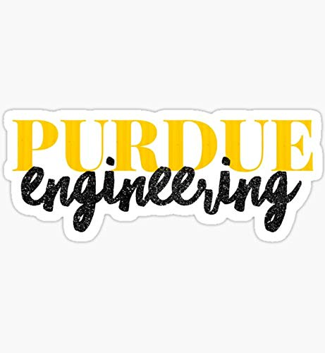 Purdue Engineering - Style 1 - Sticker Graphic - Auto, Wall, Laptop, Cell, Truck Sticker for Windows, Cars, Trucks