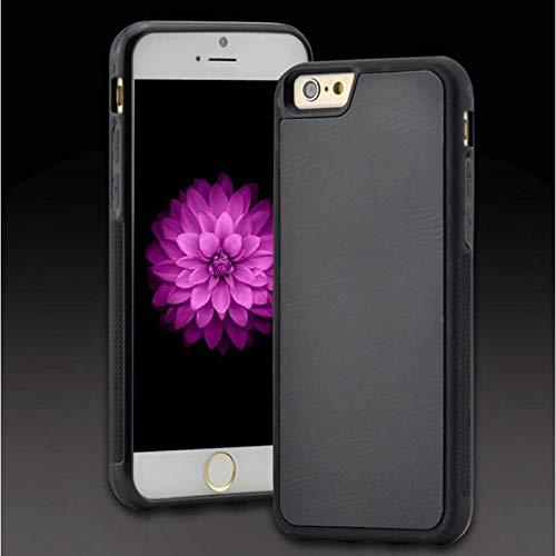 Estuche Plutón antigravedad magia magia nanoadsorción anticaída estuche para teléfono móvil de cabra, adecuado para iphone12 11 6 7 8 Funda protectora Mini Pro Plus X XS MAX XR (negro)