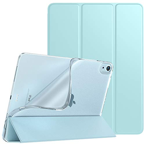 TiMOVO Case for New iPad Air 4th Generation, iPad Air 4 Case (10.9-inch, 2020), Slim TPU Translucent Frosted Back Protective Cover Shell with Auto Wake/Sleep, Cover Fit iPad 10.9' 2020 - Sky Blue