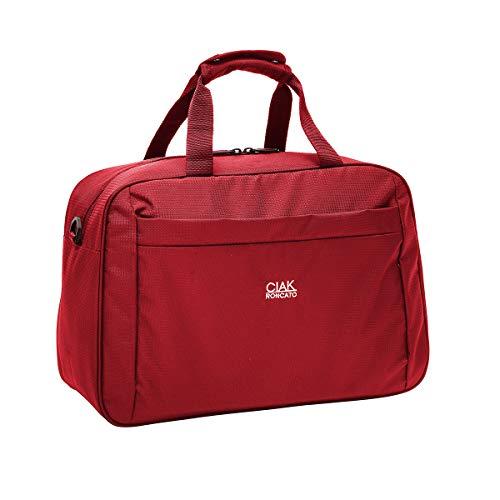 Ciak Roncato, SMART - Borsa da Viaggio Cabina Voli Low Cost in Tessuto Jacquard, Bagaglio Cabin Size, Rosso 41 cm