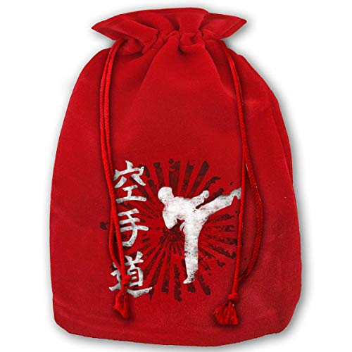 Christmas Gift Bags Karate Letter Gold Velvet Party Favors Grocery Wrapping Storage Bags for Kids