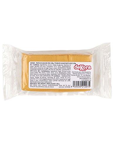 Pasta di zucchero oro Taglia Unica