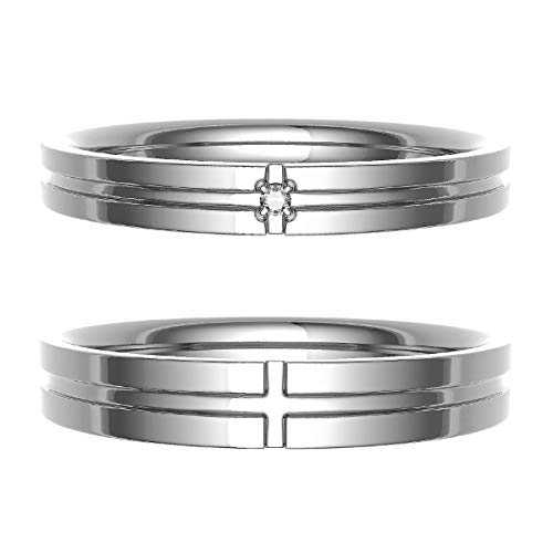 [ココカル]cococaru ペアリング 結婚指輪 K18ゴールド 2本セット マリッジリング ダイヤモンド 日本製(レディースサイズ20号 メンズサイズ13号)