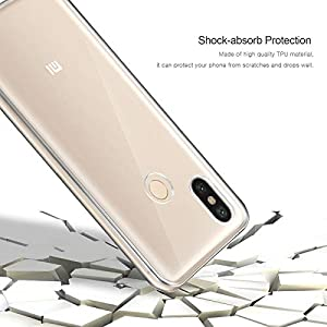 AROYI Funda Xiaomi Mi A2 / Xiaomi Mi 6X, Ultra Slim Doble Cara Carcasa Protector Transparente Silicona TPU Resistente Anti-Arañazos Protectora Case Cover para Xiaomi Mi A2 / Xiaomi Mi 6X