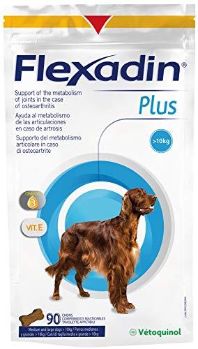 Vetoquinol Flexadin Plus MAX Envase con 90 Comprimidos de Alimento Complementario Dietético para Perros