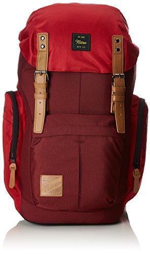 Nitro Schulrucksack Daypacker Alltagsrucksack im Retro Look mit Gepolstertem Laptopfach, Schulrucksack, Wanderrucksack oder Streetpack, Größe und Schnitt ideal für Frauen, 32 L, Chili