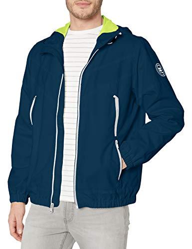 Perry Ellis - Men's Outerwear Men's Water Resistant Hooded Active Jacket, Navy, M