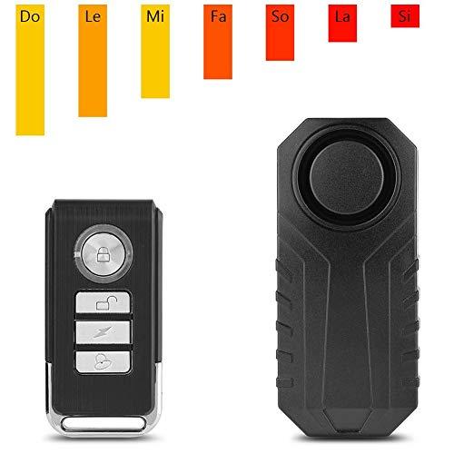 Vbestlife Alarma de Control Remoto Inalámbrico Candado de Bicicleta Alarma Cerradura de Seguridad Vehículo de Moto Sirena de Bloqueo Antirrobo Alarma
