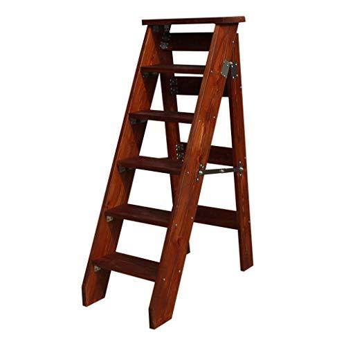 N&O Renovierungshaus Massivholz Verbreitert Haushalt 6 Stufen Hocker Faltbare Treppe Treppenstuhl Pflanzenständer Tragbare Trittleiter Leichte Gartengeräte 330 Pfund Kapazität