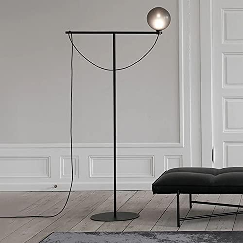 Yxx max -Lámpara de pie Lámpara de pie de Interruptor de pie, Pantalla de Cristal de Estilo nórdico Adecuado for la lámpara de pie de Villa de Estudio de Estudio Luz Decorativa