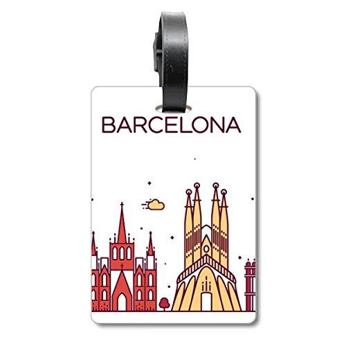 Barcelona España - Etiqueta de identificación para Maleta de Crucero