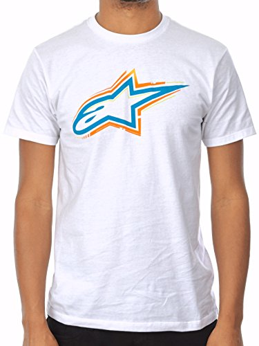 Alpinestars Herren T-Shirt Skyway Tee Mens, weiß, M