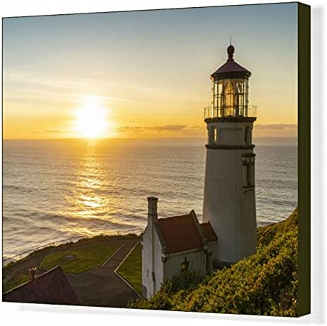 robertharding Max 50% OFF 20x16 Canvas Print Manufacturer OFFicial shop of Head Lighthouse at Heceta Su