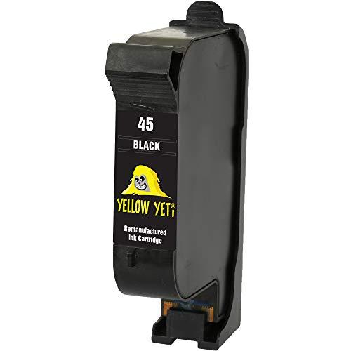 Yellow Yeti Remanufacturado 45 Cartucho de Tinta Negro para HP Officejet 1170 G55 G85 G95 K60 K80 Fax 1220 Photosmart 1000 1100 1115 1215 1315 P1000 P1100 Copier 180 280 Deskjet 1280 6120 9300 970cxi