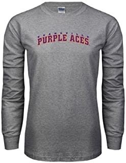 Evansville Grey Long Sleeve Tshirt 'Arched Evansville Purple Aces'