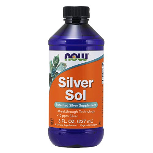 NOW Supplements, Silver Sol 10 PPM with Elemental Silver and Deionized Water, Liquid, 8-Ounce