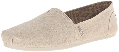Skechers womens Bobs Plush - Best Wishes loafers shoes, Natural, 5.5 US