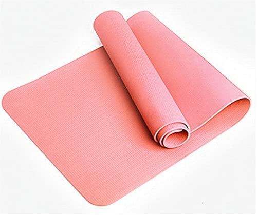 Estera De Yoga Profesional De Yoga. TPE Estera para Ejercicios De Fitness Antideslizantes Ecológicos, Estera De Ejercicios con Correas, Adecuado para Yoga, Pilates Y Gimnasia