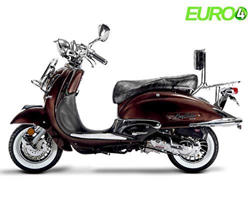 Retro Roller Motoroller Scooter Artemis 125 ccm 90 kmH in rot/beige
