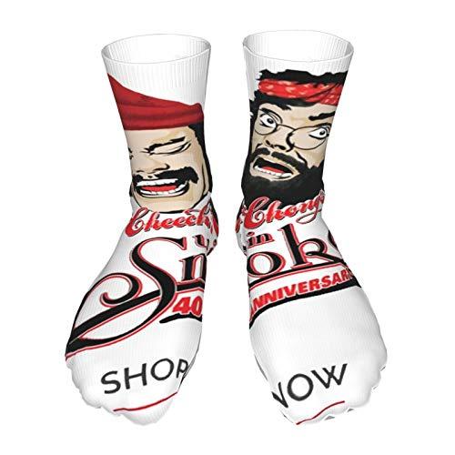 AsakawaKoutarou Blind Melon Moda Unisex Estampado Algodón Transpirable Deporte Casual Socks Calcetines Long Calcetines Thick Calcetines